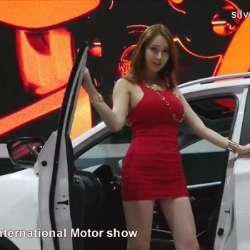 性感车模 2014韩国车展85